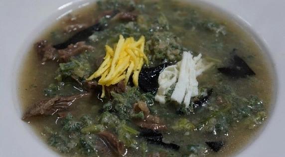 суп из полыни 쑥탕