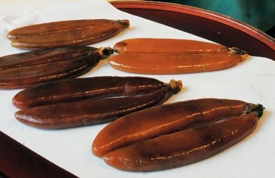 корейский деликатес из рыбы 어란