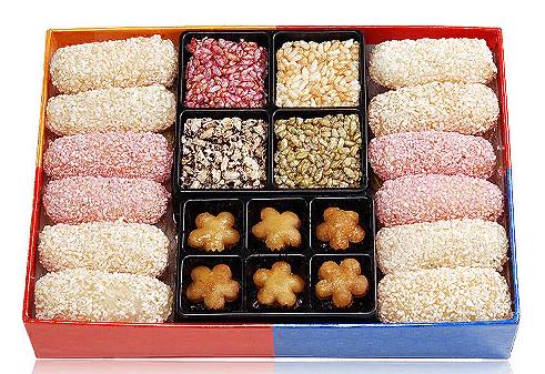 традиционные печенья  한과