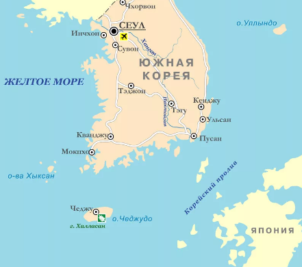 Желтое море и Корейский пролив